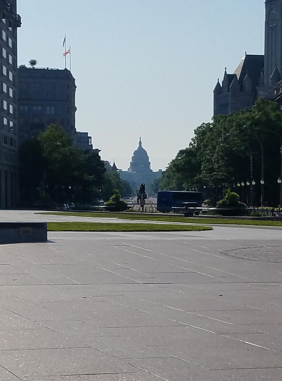 Long view of the Capitol Building, Washington, D.C