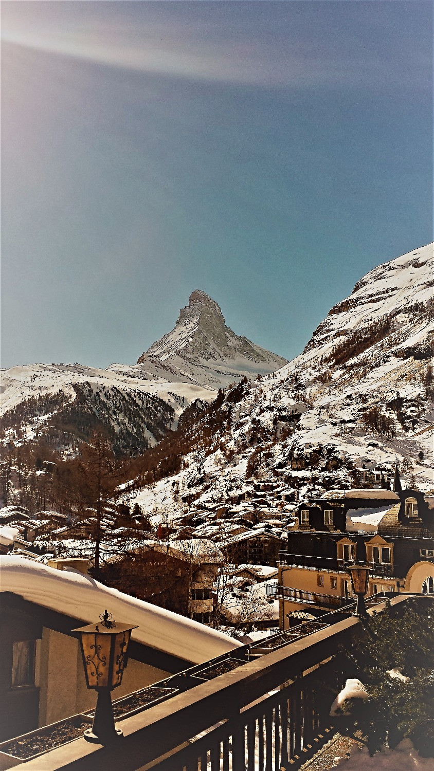 View of Matterhorn from Hotel Bella Vista, Zermatt