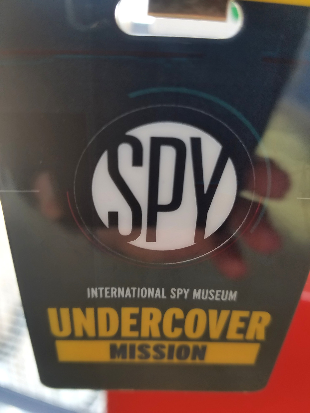 "International Spy Museum ""mission"" badge"