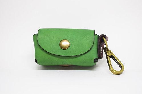რინგოს მწვანე  ტყავის ქისა