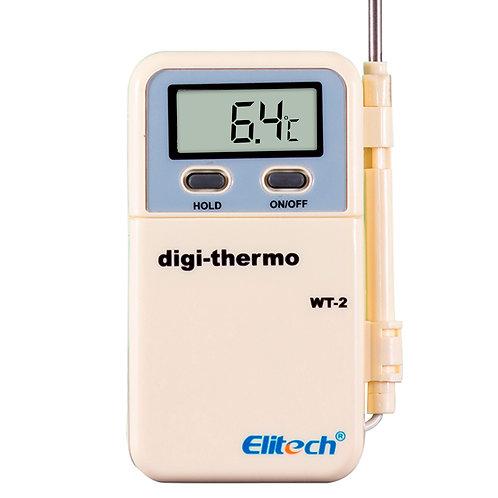 WT-2 TERMOMETRO DIGITAL SENSOR TIPO ESPETO ALONGADO COM FIO (-50 A 300°C)