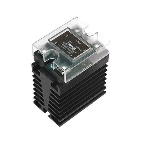 SSR-4810 10 A / 480 VCA c/ dissipador ND-10 fixação trilho DIN