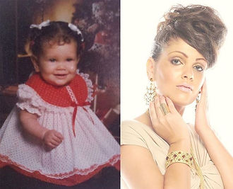 Actress Vitelle as a baby to now. Throwback.
