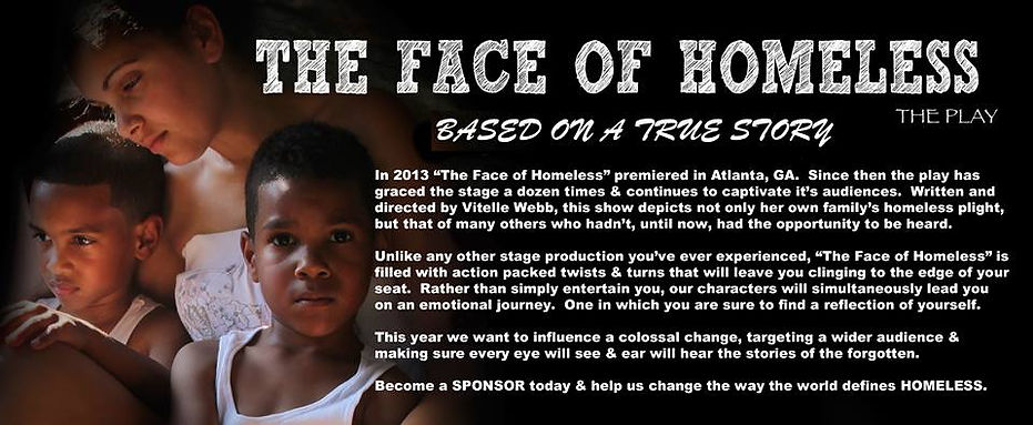 The Face of Homeless Stage Play Flyer