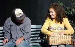 Here's a shot from my stage production _The Face of Homeless_, a play about my homeless journey & ot