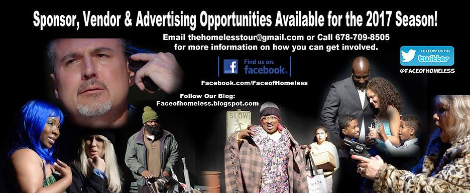 Sponsorship Opportunities for The Face of Homeless Stage Play