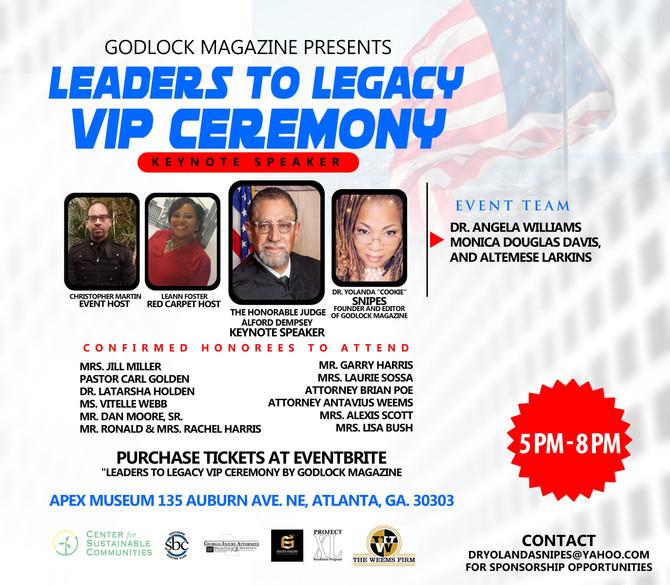 Godlock Magazine's Leaders to Legacy VIP Ceremony & Magazine