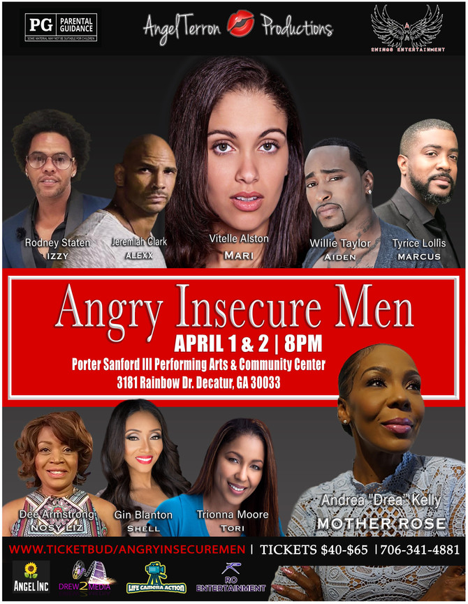Angry Insecure Men ~ Postponed due to Covid-19 (stay tuned for new dates)