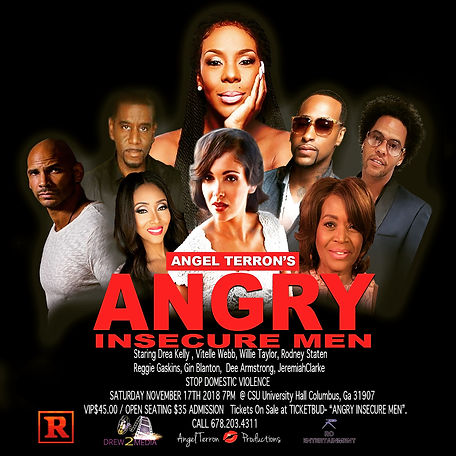 Angry Insecure Men Stage Play Flyer