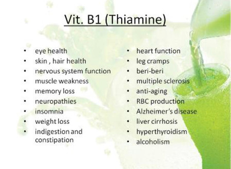 The Health Benefits of Vitamin B1