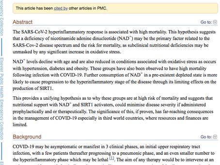 Covid-19: Nad+ Deficiency