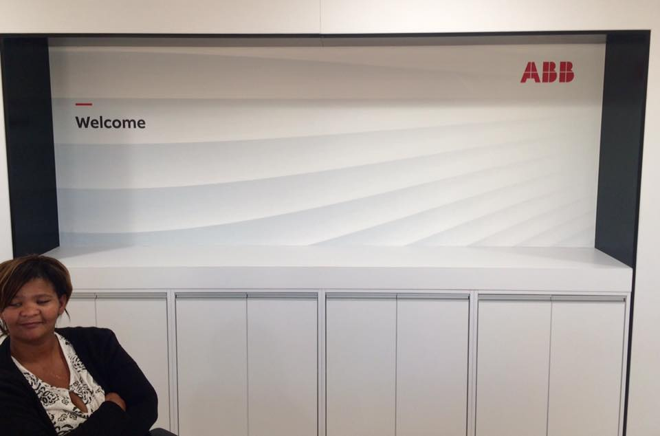 Wallpaper at ABB Reception