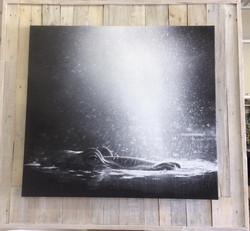 FrameTique canvas on wooden pallets2