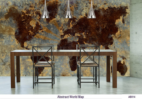 AB014 Abstract World Map