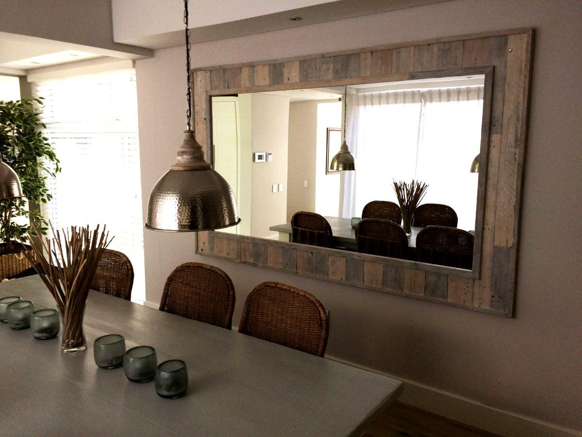 Pallet Framed Mirror