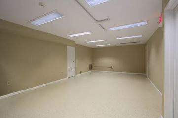 After drywall repair in offices