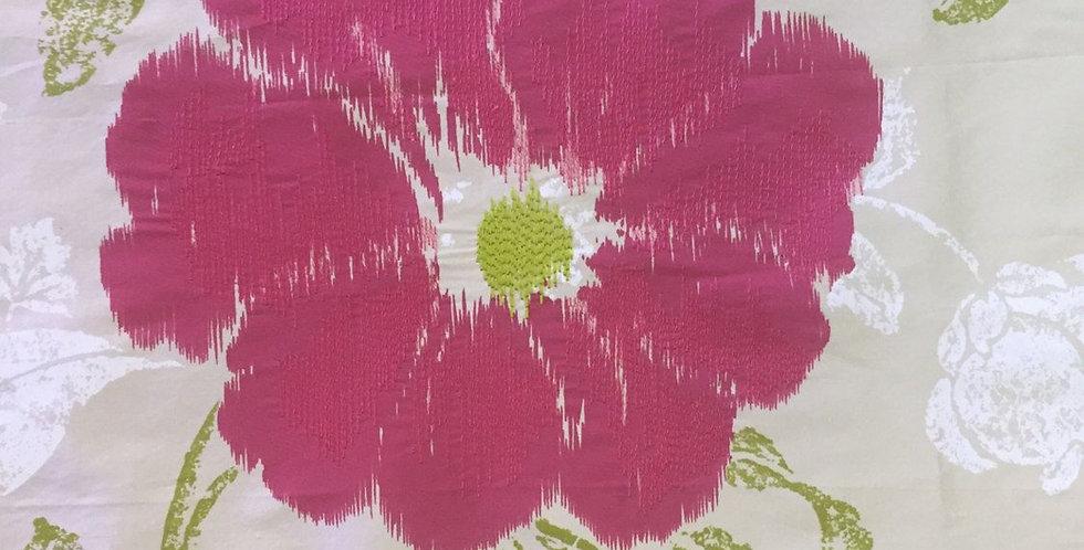 PINK Slik Floral Fabric