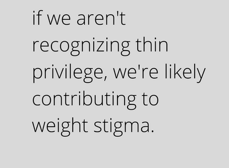 We Have To Talk About Thin Privilege.