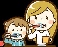 歯磨き親子