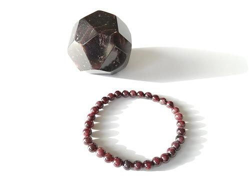Bracelets billes en Grenat (Almandin)