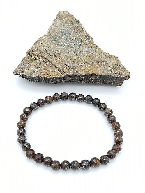 Bracelets billes en Bronzite
