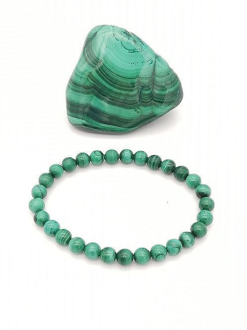 Bracelets billes en Malachite