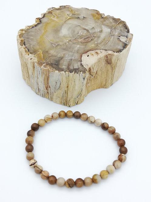 Bracelets billes en Bois fossilisé (Pétrifié)