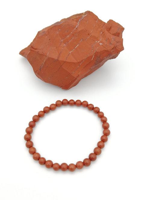 Bracelets billes en Jaspe Rouge