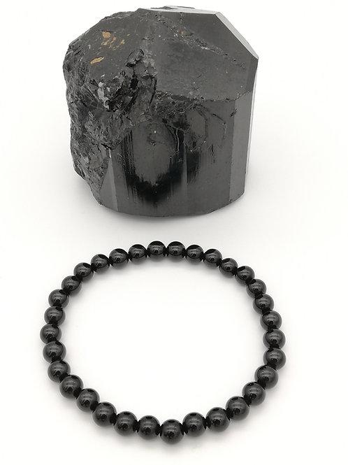 Bracelets billes en Tourmaline Noire