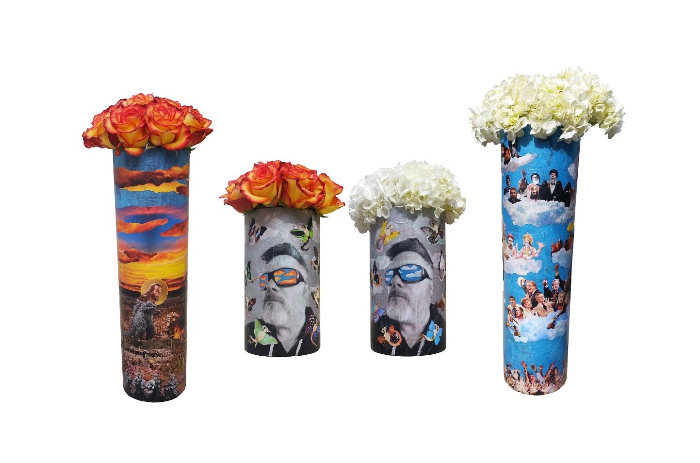 Themed Vases (details), 2016.