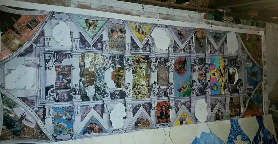 Sistine Chapel work in progress.2015