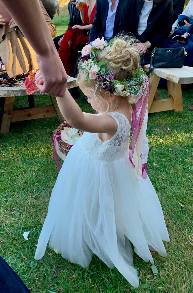 Flower Girl Headwreath and Basket