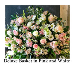 Deluxe Basket in PInk and White