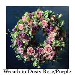 Wreath in Dusty Rose