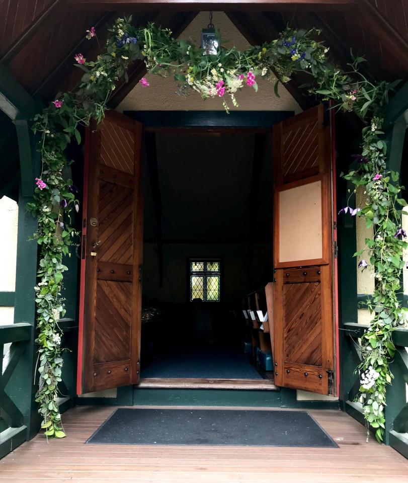 Wedding Garland at Emmanuel Chapel, MBTS