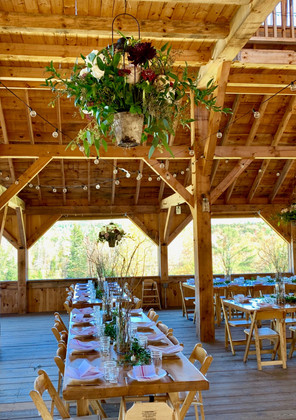 Barn Wedding, VT Floral and Table Decorations