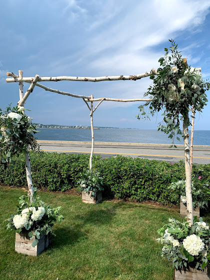 Birch Chuppah with Flowers and Greens, Elk's Club Gloucester