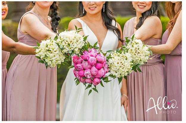 Bride and Attendant Bouquets, Grafton Estate