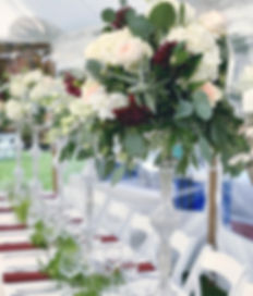 Formal Tall Crystal Centerpieces