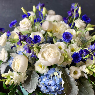 Blue and White Seasonal Florals
