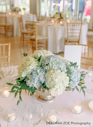 Classic Hydrangea Centerpieces on Tables
