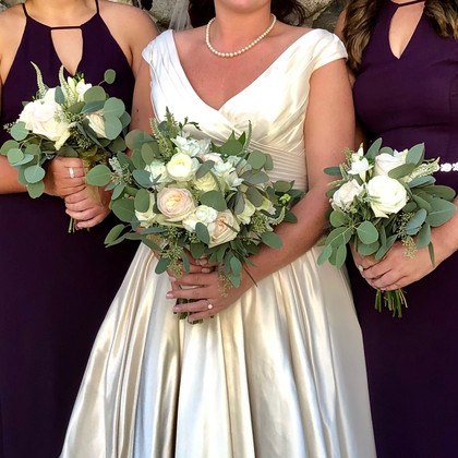 Bride and Attendants at Willowdale