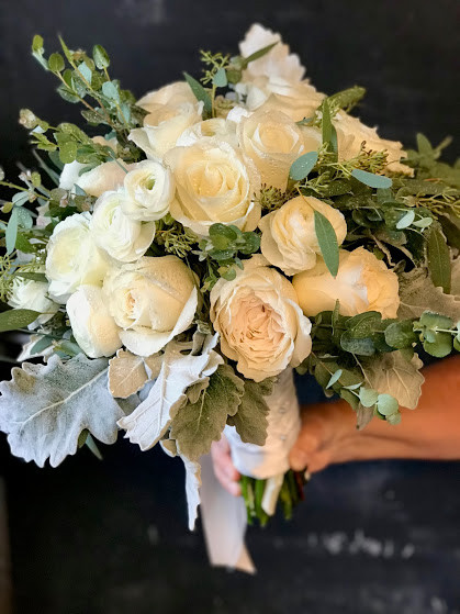 Bridal Bouquet of Garden Roses and Greens