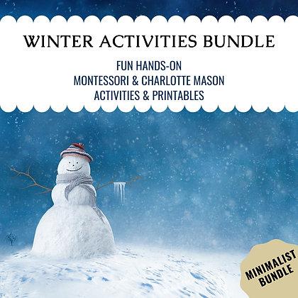 Winter Activities Minimalist Bundle
