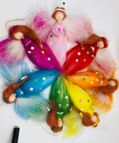 The Wool Fairies Rainbow Collection