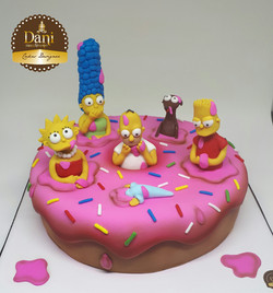 Bolo Rosquinha Simpsons