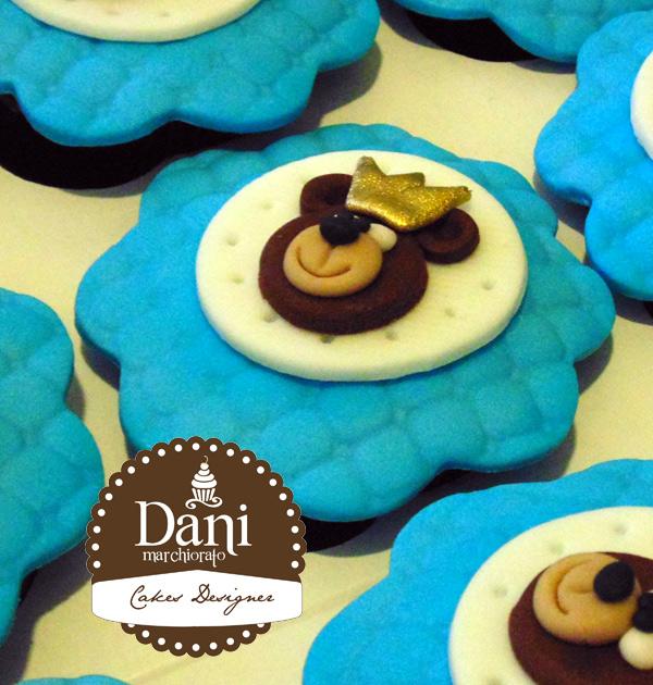 Cupcakes Urso Rei