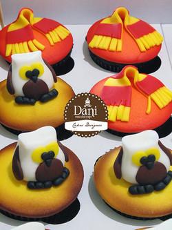 Cupcakes H. Potter-Coruja-Cachecol