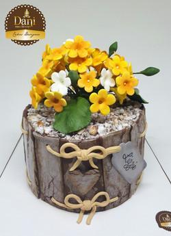 Bolo Presente Flores