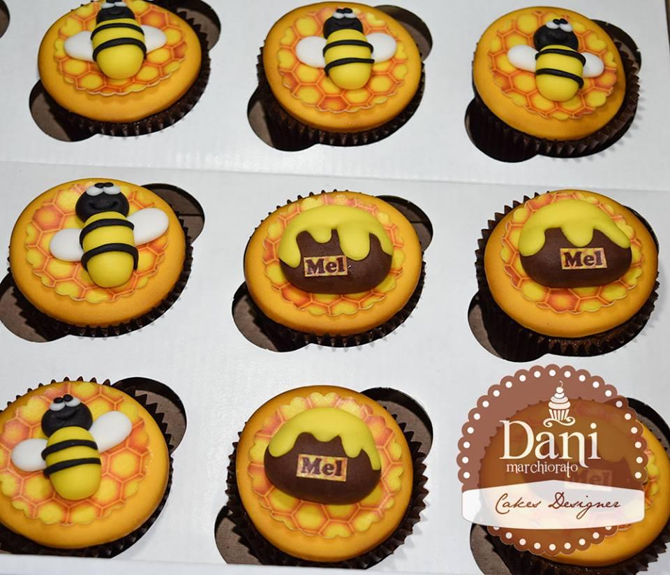 Cupcakes Abelha e Mel